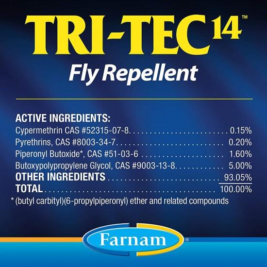 TRI-TEC 14 insettorepellente spray per cavalli contro tafani mosche e insetti volanti con filtro solare 600 ml