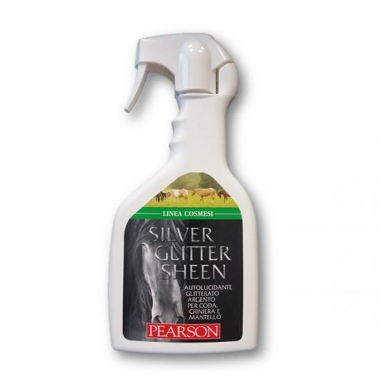 Glitter argento per cavalli Silver sheen Pearson ml. 700